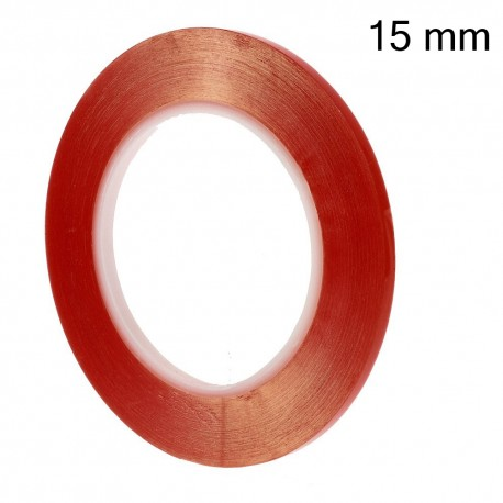 15mm x 25m Double-sided Clear Adhesive Sticker Tape